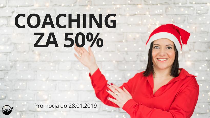 Coaching z profesjonalistą - skorzystać z promocji 50% taniej